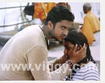 Audithya and Rakshita in film Love
