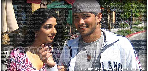 Sowmya and Diganth in Miss California